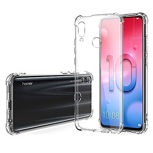 Hually Funda Huawei P Smart 2019, P Smart (2019) Funda Fall Slim TPU de Alta Transparencia Cubierta Protectora para Huawei P Smart 2019
