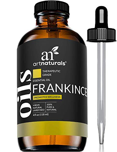 ArtNaturals Frankincense Essential Oil 4oz - 100% Pure Oils Natural Undiluted Therapeutic Grade – Premium Aromatherapy Quality Oil, Aromatherapy & Diffuser - 120ml Large Glass Bottle w/Dropper