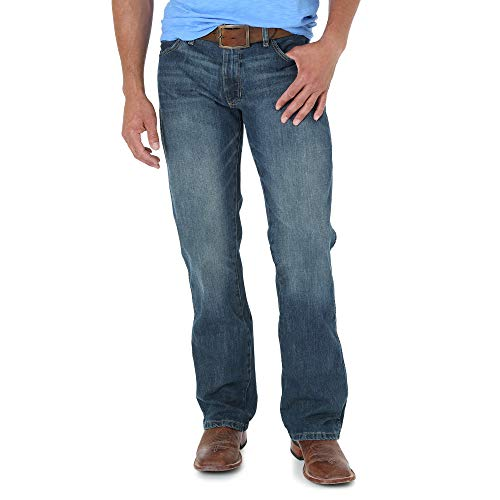 Wrangler Men's Retro Slim Fit Boot Cut Jean, River Wash, 30W x 32L
