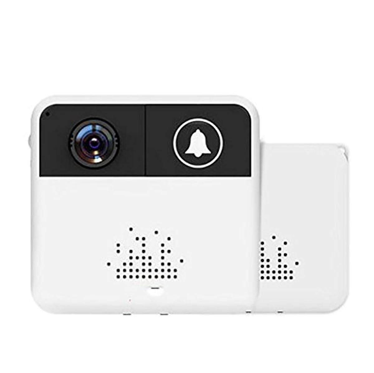 有望やりがいのある決めますWYMLKUD ワイヤレスビデオドアベル、 スマートホーム インターコムのドアベル、 携帯電話のリモート 監視カメラ、 レシーバ+トランスミッタ(バッテリが必要)、 防水、 プラスチック材料、 ホワイト (色 : 白)