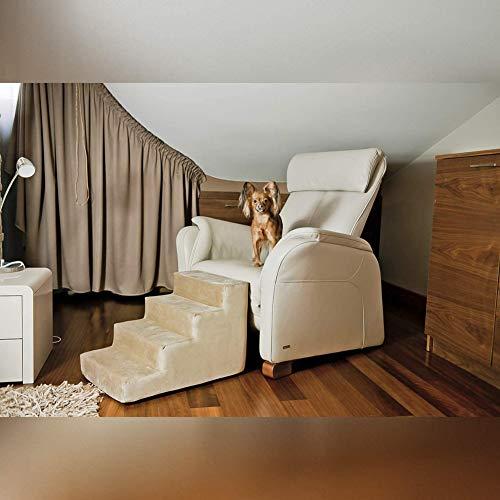 Duchen - Escalera de perro de 4 capas con funda de forro polar, extraíble y lavable para mascotas con escalera, escalera de sofá y escalera, fácil de subir