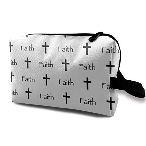 wenxiupin Faith Travel Cosmetic Bag For Women Cosmetics Make Up Tools Digital...