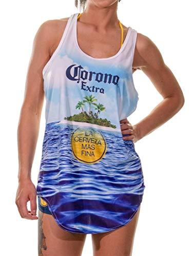 Calhoun Corona Extra Tank Top Flowy Beach Cover Up - mehrfarbig - Large