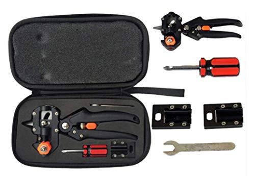Kit de podadora de herramientas de injerto en V y corte en U, perfecto para cortar árboles frutales e injertos, cinta de injerto y cuchillas de repuesto, tijeras profesionales de podar