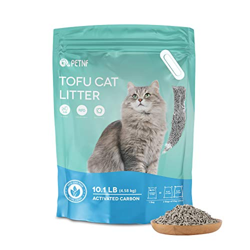 Tofu Cat Litter,Natural Flushable Kitten Litter Unscented,Ultra Clumping Plant Litter for Multi-Cat, Pea Flavor and Activated Charcoal Double Shot Deodorization,Zero Dust,Low Tracking,Biodegradable