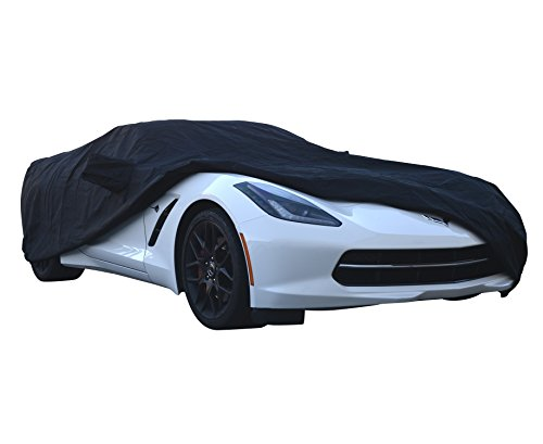 Custom Car Cover Fit Series for Chevrolet Chevy Corvette Coupe Convertible C5 C6 1997~2013 – UV Resistant – Breathable Fabric (Prime Waterproof Gold Black)