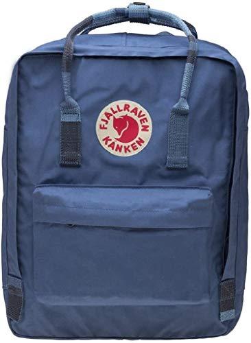 Fjallraven - Kanken Classic Pack, Heritage and Responsibility Since 1960, Blue Ridge-Random Blocked