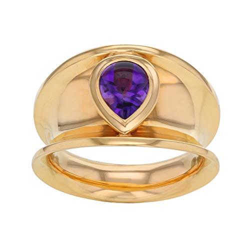Chopard 827868-5010 18K Rose Gold & 1.06 Cttw Amethyst Women's Ring Size 7