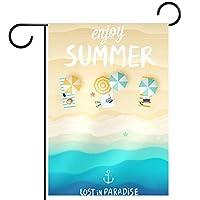 ガーデンフラッグ、庭の旗、デコヤードバナー農家の装飾夏をお楽しみください 垂直バナー28x40インチ
