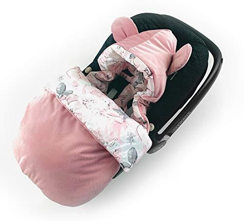 Babyfußsack für Babyschale Autositz VELVET Fußsack Einschlagdecke Winterfußsack Baby Schlafsack Kinderwagen Bett Wiege GOTS