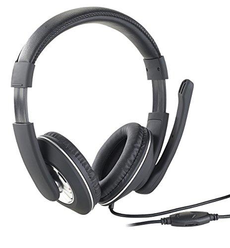 auvisio Kopfhörer mit Mikrofon: Gaming-Headset GHS-100 für PC, mit Klapp-Mikrofon, 2X 3,5-mm-Klinke (Kopfhörer für PC)