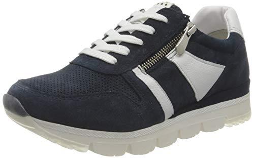 MARCO TOZZI 2-2-23754-26 Damen Leder Sneaker, Zapatillas Mujer, Azul Marino, 40 EU