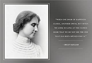 WeSellPhotos Helen Keller When one Door of Happiness Closes, Another Opens Quote 13x19 Poster