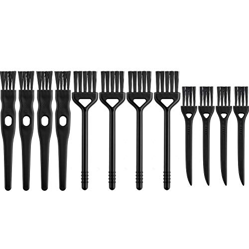 12 Piezas Cepillo de Limpieza de Afeitadora Eléctrica Cepillo Limpiador de Plumero de Afeitar Eléctrico con Cerdas de Nailon, 3 Tamaños