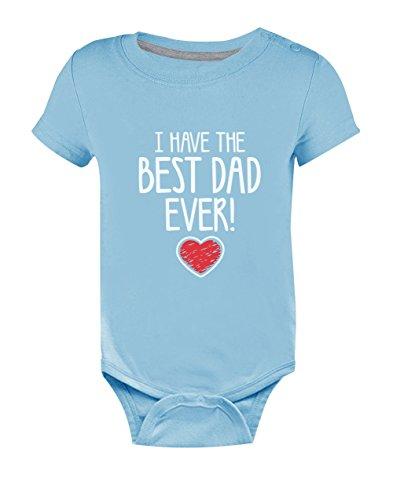 Body de Manga Corta para bebé - I Have The Best Dad Ever! - Regalo Original de Cumpleaños o Día del Padre para Papá