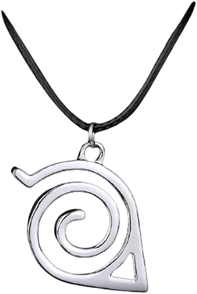 Trendy Fashion New Pendant Necklace Double Bands Konoha Sign For Men And Women Wholesale And Retail