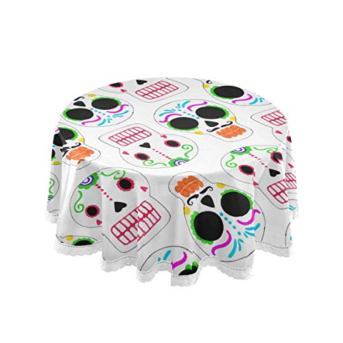 Manteles Redondos 60 Pulgadas - Zombie Ghost Feliz Halloween de la Ronda...