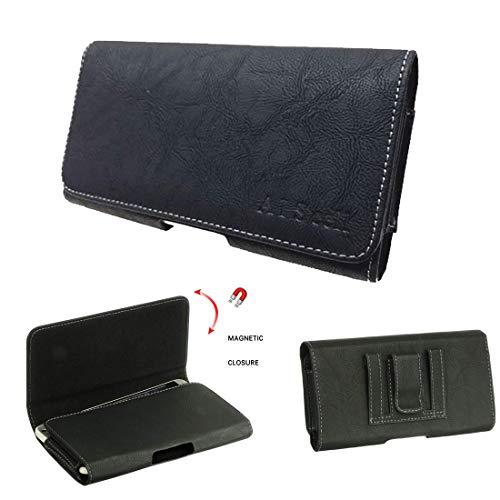aiscell Tasche für LG G7thinq V30G6V35thinq ~ Premium schwarz Deluxe Kunstleder Tasche Hülle Belt Clip (passt Quertasche mit Hybrid Slim Schutzhülle/Silikon Haut Fall auf)