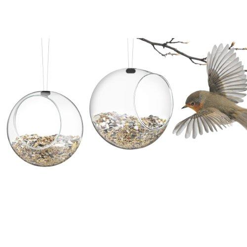 Eva Solo Mini Futterspender für Vögel 2Stück transparent