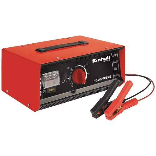 Einhell Batterie-Ladegerät CC-BC 15 (6-24 V, für Batterien von 4,4-15 A, Ladeelektronik, Stahlblechgehäuse, inkl. Ladeleitung mit Polzangen)