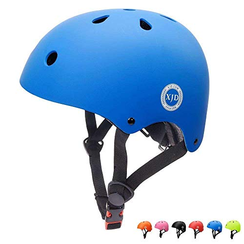 XJD Casco Bici Ideale per Bambini e Adolescenti Caschi MTB Scooter Helmet Ideale per Tutte Le Forme di attività in Bicicletta (Blu, S)