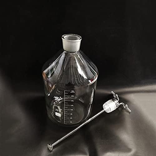 SHUJINGNCE Pico Botella de Lavado de Gas Monteggia, Capacidad 20000ml, Botella de Lavado de Gas de Vidrio de Laboratorio Muencks, Shisha Hookah