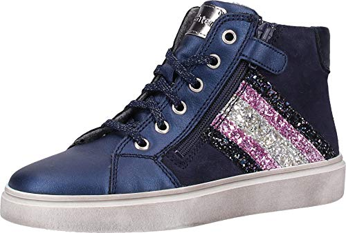 Richter Kinderschuhe Mädchen Ryana Hohe Sneaker, Blau (Atlant/Petro/Cand/SI 7201), 32 EU