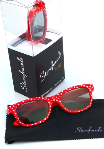 Sterefocals HDIUK3D01 Dotty Spot Passive 3D Glasses Fits Kids for All Passive 3D TV Models