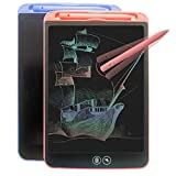 LCD Writing Tablet, Drawing Tablet for Kids and 8.5 Inch Colorful Screen Boogie Board Writing Pad Toy for Girl Boy Paperless with Erasable Message Learning Education Gift(Pink+Blue)