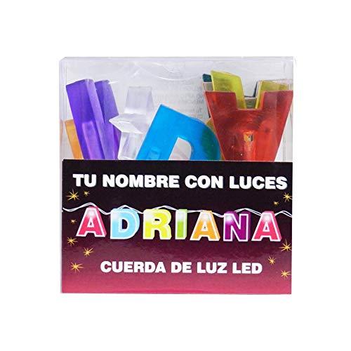 TU NOMBRE CON LUCES - Cadena de luz LED con nombres y símbolos ¡TU NOMBRE EN LAS LUCES! 8 Luces LED con letras, si el nombre tiene menos, viene con símbolos extra como estrellas. (Adriana)
