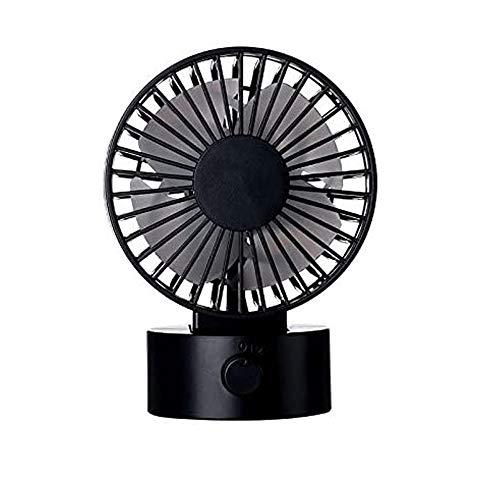 QIYUE Fan, snel koelen, verstelbare standaard for twee Motor USB Desktop Fan, draagbare ventilator for Home Office Baby Sleep Summer (zwart)