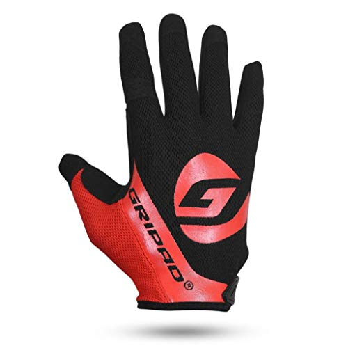GRIPAD Airflow Cross-Training Gloves (Red, Small) | Vented Weight Lifting Gloves | Reduced Hot-Hands | Great for Pull Ups, Cross-Training, Fitness, WODs, Weightlifting | Great for Men & Women