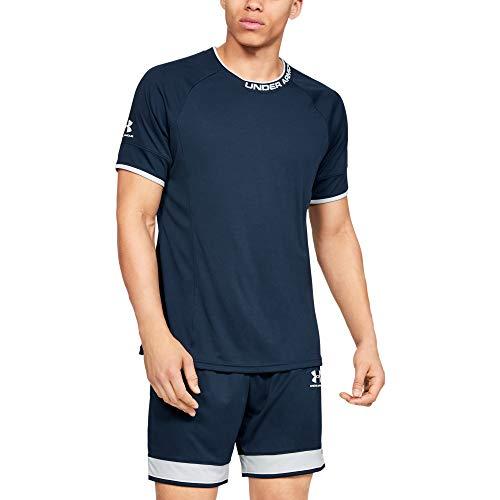 Under Armour Challenger III Training Top Transpirable para Hacer Deporte, Camiseta para Hombre, Azul, MD