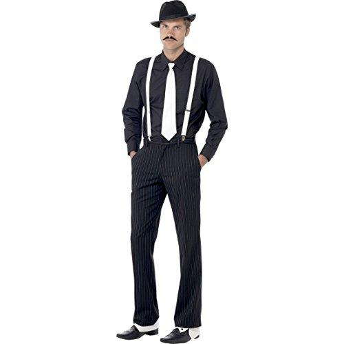 NET TOYS Al Capone Kostüm Set Gangster Kostümset Mafiaset 20er Jahre Kleidung Outfit Mafia Verkleidung