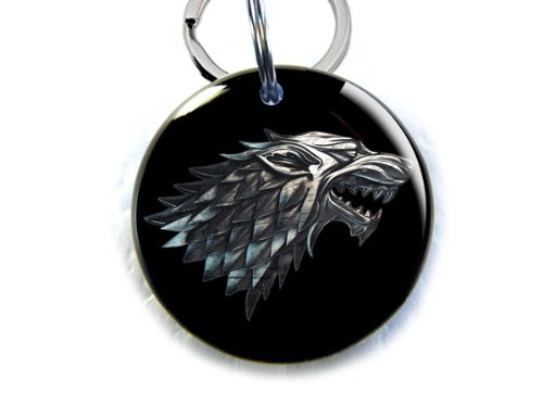 "ID4Pet Game of Thrones Stark Direwolf Pet id Tags (Small 1.00"")"