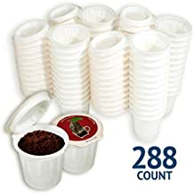 iFillCup, fill your own Single Serve Pods. Eco friendly 100% recyclable pods for use in all k cup brewers including 1.0 & 2.0 Keurig. 288 iFill Cup airtight seal in freshness pods. (Red)