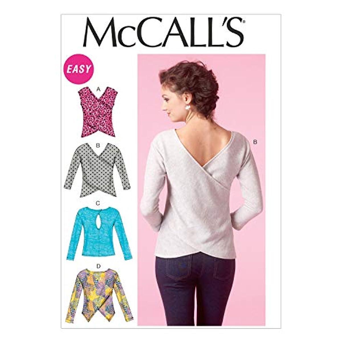 McCall's Patterns M7127-E50 Misses' Tops-14-16-18-20-22, Size E5 (14-16-18-20-22)