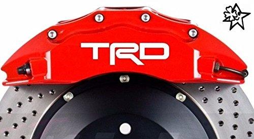 TRD 4 x Bremsenaufkleber Bremsen Aufkleber Bremssattel Hitzebeständig DECALS STICKERS von myrockshirt ® estrellina Glücksstern