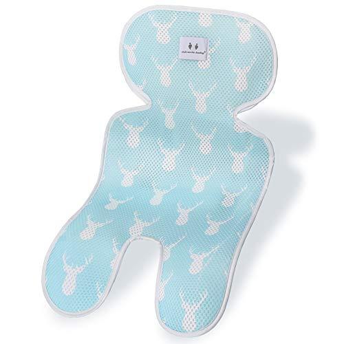 Fengzio Baby Sitzauflage Sommer Atmungsaktive Sitzeinlage für Kinderwagen, Buggy, Autositz und Babyschale Sitzauflage Kinderwagen Kühlt und schützt den Sitzbezug vor Flecken
