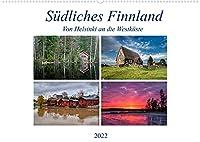 Suedliches Finnland (Wandkalender 2022 DIN A2 quer): Von Helsinki an die Westkueste (Monatskalender, 14 Seiten )