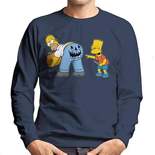 The Simpsons Naughty Bart Halloween Men's Sweatshirt