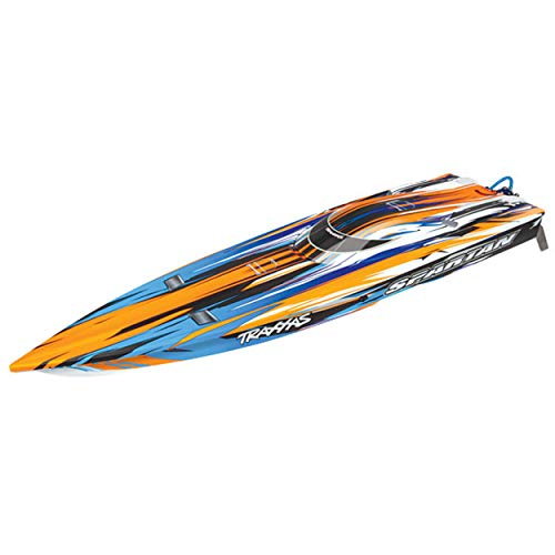 RC Speed Boat TRAXXAS Spartan orange ohne Akku/Lader BL-Renn-Boot Brushless