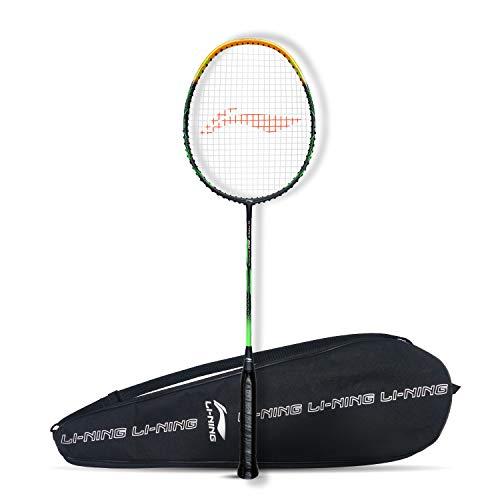 Li-Ning G-Force Superlite 3600 Carbon-Fiber Strung Badminton Racquet with Full Cover (Dark Grey / Gold)