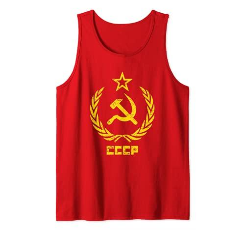 Martillo y hoz estrella CCCP Unión Soviética Rojo Camiseta sin Mangas
