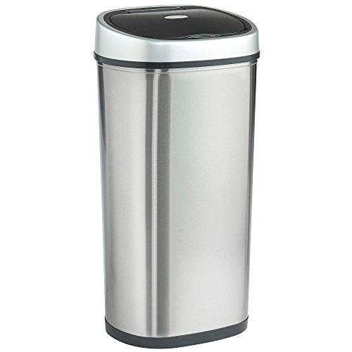 VonHaus 50 l Automatischer Freihändiger Sensor-Mülleimer – Edelstahl