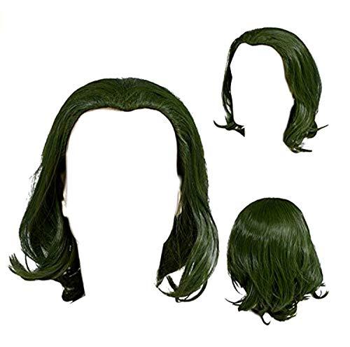 Peleca de Payaso Clown Wig Unisex para Hombre Mujer Disfraz Costume Accessorio Verde 2019 Película Versión