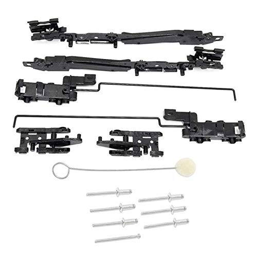 YFJLOVE YUFENGJIAO 1 Set SunRoof Track Repare Kit Fit para 00-17 Ford F-150 F-250 F-350 F-450 Fit para Lincoln Marklt (Color : Black)