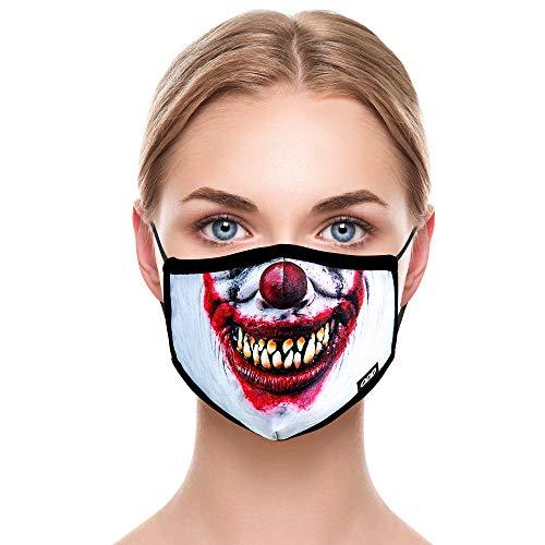 Odd Mask Cloth Face Shield Washable, Evil Clown, Adult Men's & Women's