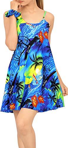 LA LEELA Hawaiian Blouse | Vrouwen Jongen Vriend Shirts | Korte mouw | Zomer Casual | Beach Party Top | Plus Size Losse Aloha | XS - 3XL | | Gedrukt 1896