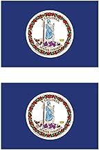 Two Pack Virginia Flag Sticker FA Graphix Decal Self Adhesive Vinyl state virginian VA